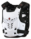 CRAZY AL'S SCOYCO AM05 Body Armor Professional Motorcycle Motocross Racing Protective Body Armour Armor Jacket Guard Motobike Bicycle Cycling Riding Motocross Gear(XL, White) - Gasbike.net