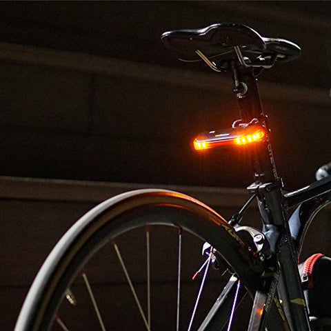 Nubeam NB-600 USB Rechargeable Bicycle Taillight - Wireless Anti-theft Alarm, Directional Turn Signal Light, Electronic Bell, Rear Lamp - Wireless Operation and Water Resistant