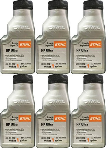 STIHL 0781 313 8002 2.6 Ounce High Performance Ultra 2 Cycle Engine Oil, 6 Pack - Gasbike.net