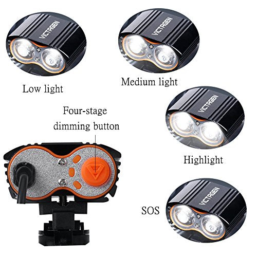 4 Modes Bike Light Super Bright Rear Rechargeable USB Waterproof Cycling Lamp US