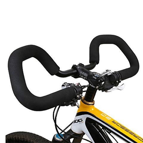 West Biking 0.87lb Ultralight Cycling Handlebar 25.4 / 31.8590mm Aluminium Alloy Bike Bicycle Butterfly Handlebar + Sponge Foam Tube Grips