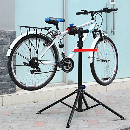 b084554155b ... MVPOWER Pro Mechanic Bike Repair Stand Adjustable Height Bicycle  Maintenance Rack Workstand With Tool Tray