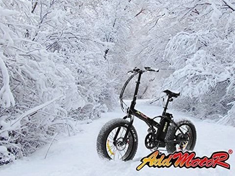 Addmotor MOTAN Folding Fat Tire Electric Bicycles Snow Beach Bike 20Inch Electric Bikes 500W Bafang Motor Lithium Battery 4 Colors M-150 E-bike - Gasbike.net
