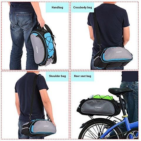 Lixada Bicycle Rack Bag 13L Waterproof Cycling Bike Rear Seat Cargo Bag MTB Road Bike Rack Carrier Trunk Bag Pannier Handbag - Gasbike.net