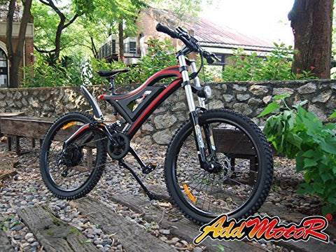 Addmotor HITHOT Electric Bicycle 500W 48V Dual Suspension Mountain Electric Bike 2017 H5 E-bike With 26 Inch Wheel Shimano Gear For Adults - Gasbike.net