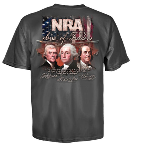 UWare Brands Mens National Rifle Association Sons Of Freedom Short Sleeve T-Shirt - Gasbike.net