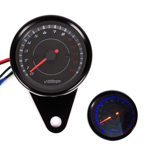 Iztor Motorcycle Speedometer Tachometer Odometer Rev Counter 0-13000 RPM