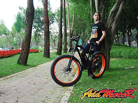 Addmotor MOTAN Electric Mountain Bike Power Plus 4.0 Inch Snow Fat Tire Bicycle 48V 500W Bicycles Shimano 7 Speeds Gears M-550 E-bike With 10.4AH Lithium-Ion Battery - Gasbike.net