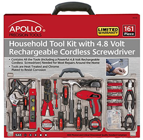 Apollo Precision Tools DT0738 Household Tool Kit, 161-Piece - Gasbike.net