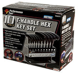 Performance Tool W80275 Metric T-Handle Hex Key Set, 10-Piece