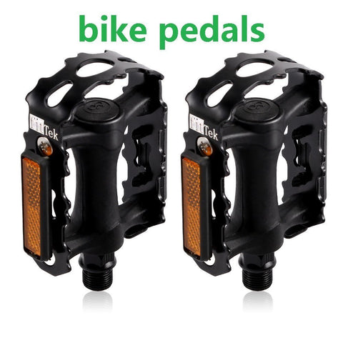 fitTek Bike Pedals, Universal Bicycle Pedals, 9/16-Inch Boron Steel Spindle & Metal Bike Pedals ( Pair Pedals)