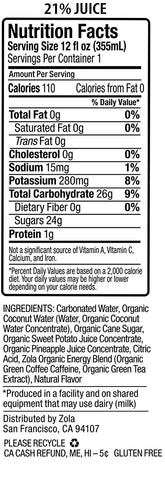 Zola Organic Hydrating Energy Drink, Dragon Fruit, 12 Ounce (Pack of 12) - Gasbike.net