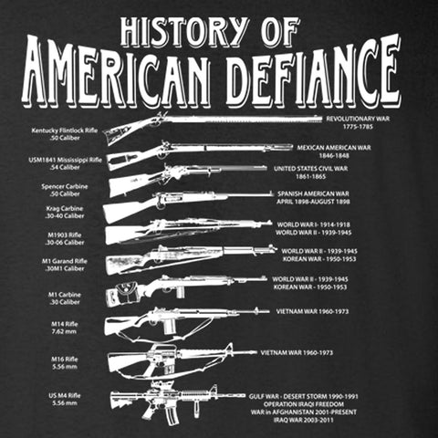Gadsden and Culpeper History of American Defiance T-Shirt (Black)