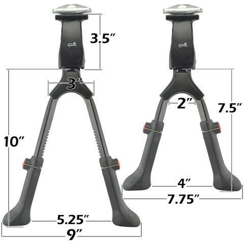 "Lumintrail Center Mount Double Leg Bicycle Kickstand Adjustable Aluminum Alloy Bike Stand fits 24""-28"" - Gasbike.net"