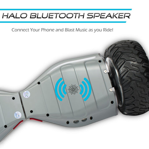 Official Halo Rover Hoverboard - Safety Certified UL 2272 - Halo Bluetooth Speakers - Halo Rover Mobile APP - Free Carry Case - LG FireSafe Battery - Halo 8.5 Inch Non Flat Tires