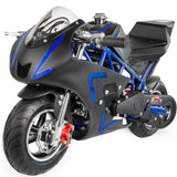 XtremepowerUS 40CC 4-Stroke Gas Power Mini Pocket Motorcycle Ride-on, Blue/Black, EPA Certificated - Gasbike.net