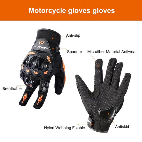 Motocross Gloves Military Hard Knuckle Tactical Gloves Outdoor Anti-slip Shockproof Full-finger Comfortable Motorcycle Motorbike Mittens - Gasbike.net