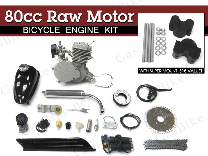 80cc Raw Motor Bicycle Engine Kit | Gasbike net
