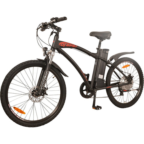 DJ Bikes DJ Mountain Bike 500W 48V 13Ah Power Electric Bicycle, Samsung Lithium-Ion Battery, 7 Speed, Matte Black, LED Bike Light, Fork Suspension And Shimano Gear - Gasbike.net