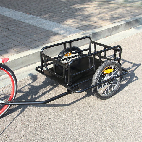 Esright Foldable Bike Trailer Cargo Utility Luggage Bicycle Trailer