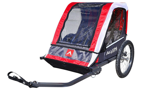Allen Sports Deluxe 2-Child Steel Bicycle Trailer, Red - Gasbike.net