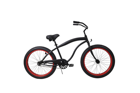 "Motorized Bicycle Greenline  FT-107 P M - Men 26"" Single-Speed FAT Tire Beach Cruiser (Bike Only)"