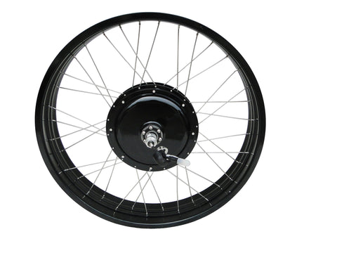 "Tesla 26"" Electric Conversion Fat Front Wheel - 48 V 1000 W (With Disc Brake and LCD) - Gasbike.net"