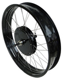 "Tesla 26"" Electric Conversion Fat Rear Wheel - 48 V 1500 W (With Disc Brake and LCD)"