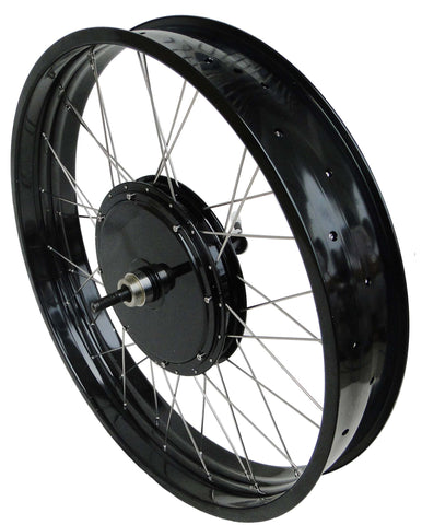 "Tesla 26"" Electric Conversion Fat Rear Wheel - 48 V 1500 W (With Disc Brake and LCD) - Gasbike.net"