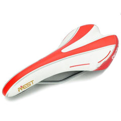 AEST YSAD-03 Bicycle Bike Seat Saddle - Red + White (FSLV)