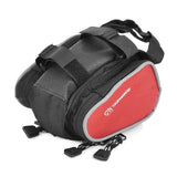 Outdoor Bike Bicycle Upper Tube Bag - Black + Red (FSLV)