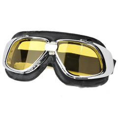 Fashion Yellow PC Lens Safety Motorcycle Goggles (FSLV)