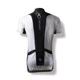 Spakct Bicycling Cycling Riding Short Sleeve Jersey - Black + White