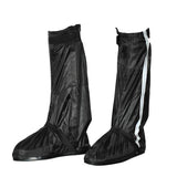 Motorcycle Waterproof Rain Boot Shoes Cover w/ Reflective Tape - Black (Size 44~45) (FSLV)