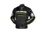 Pro-biker JK-02 Professional Polyester Motorcycle Riding Jacket - Black + Silver + Golden (FSLV)