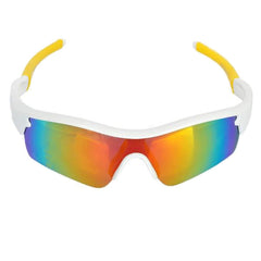 Outdoor Motorcycle Riding PC Lens TR90 Frame Glasses Goggles - White + Yellow (FSLV)
