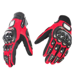 PRO-BIKER MCS-01A Motorcycle Racing Full-Finger Protective Gloves - Red + Black ( Pair ) - (FSLV)