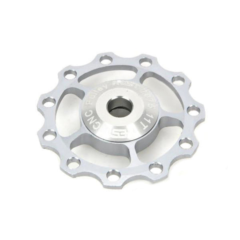Aluminum Alloy Bike 11T Rear Derailleur Pulley - Titanium  (FSLV)