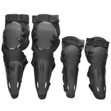 Outdoor Motorcycle Racing PE + EVA Elbow / Knee Protectors Guards Set - Black (FSLV)