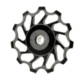 Aluminum Alloy Bicycle Rear Derailleur Pulley - Black (FSLV)