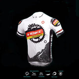 Inbike Bicycle Cycling Short Sleeves Jersey + Shorts Set - White + Black - (FSLV)