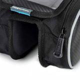 Roswheel Bike Front Tube Bag w/ Transparent Cellphone Bag - Black
