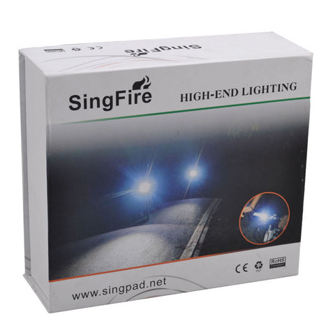 SingFire 5-Mode White Bicycle Headlamp w/4 x Cree XM-L T6 - Deep Grey (FSLV)