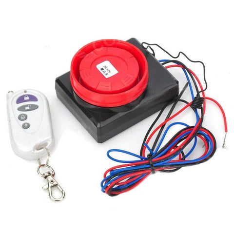 Vibration Activated 100dB Motorcycle Anti-Theft Security Alarm with Remote Control Keychain (FSLV)