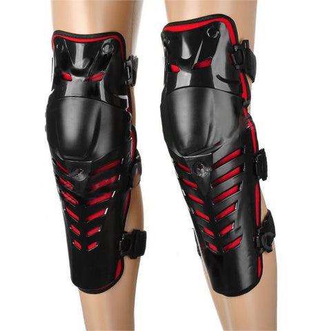 FG Cool Protective PE + EVA + Neoprene Knee Guard for Riding Motorcycle - Black + Red (2PCS) (FSLV)
