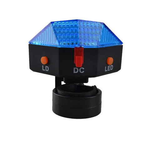 SingFire S00007 8-LED 3-Mode Warning Bicycle Tail Lamp - Black + Blue (FSLV)