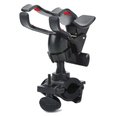 Bicycle Mountain Motorcycle GPS Navigator Phone Holder Stand - Black (FSLV)