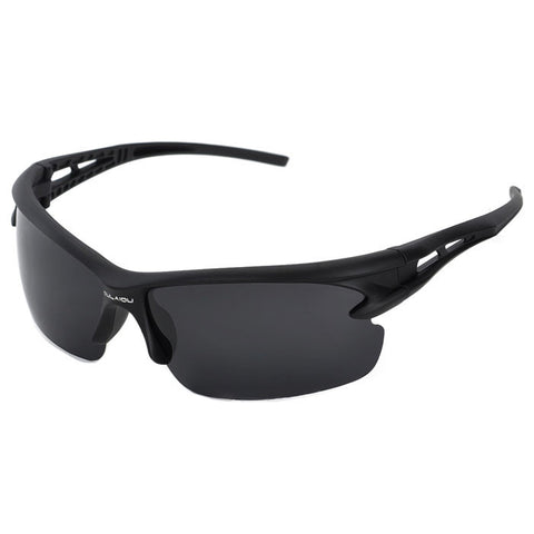 Fashion UV400 Protection Men's Sports Driving Sunglasses - Black (FSLV)