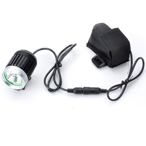 Marsing 4-Mode 3-LED Cool White Bike Light/Headlamp - Black (FSLV)