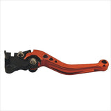 Blade Style Adjustable Motorcycle Brake Clutch Lever for Honda - Wine Red + Black (2 PCS)